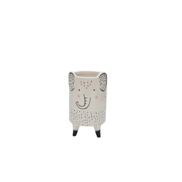 VASO PORCELANA ANIMAL ELEFANTE DL110624